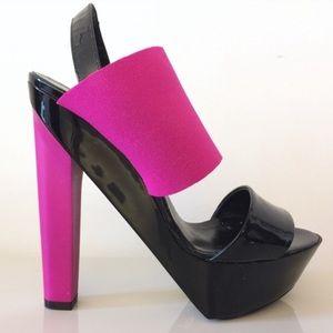 NWOB Pierre Hardy Pink and Black Heels